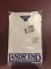 LAND'S END WHITE POLO LONG SLEEVE XL 46-46