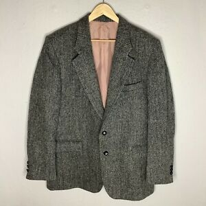 Harris Tweed Mens Grey 2 Button Casual Country Jacket 44R