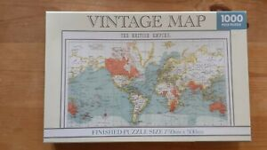 1000 PIECE JIGSAW PUZZLE - VINTAGE MAP THE BRITISH ISLES - NEW AND SEALED.
