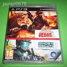 TOM CLANCY`S RAINBOW SIX VEGAS 2 + GHOST RECON 2 NUEVO PRECINTADO PAL ESPAÑA PS3