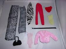 Moderne Jacke+2 x Body+Hose+3 x Tuch+Gürtel+Mütze+Tasche-Barbie-Petra-Modeladen