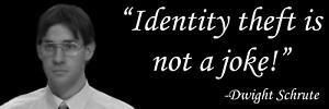The Office Identity Theft Is Not A Joke Jim Halpert Dwight Schrute Sticker