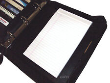 New, Padfolio Junior Legal Pad, 2 Pen Loops, Cards Slots, Black