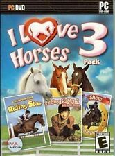 I LOVE HORSES 3 PACK  Includes three full games  3D Riding Simulation  Brand New