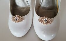 Rose gold shoe clips, gold rhinestone shoes clips,  Wedding accessories,  new
