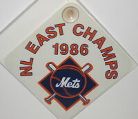 1986 NEW YORK METS NATIONAL LEAGUE EAST CHAMPS WINDOW HANGER