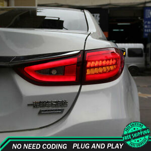 New For Mazda 6 Atenza LED Taillights 2014-2017 Red LED Rear Lamps Quality