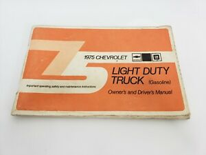 Vintage 1975 Chevrolet Light Duty Truck Owner's & Driver's Manual Book