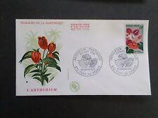 FRANCE 1973, FDC 1° JOUR, FLEURS ANTHURIUM MARTINIQUE, FLOWERS, VF