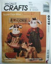 "19"" 10"" Cow stuffed doll family pattern 6319 UNCUT"