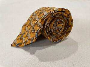 Ermenegildo Zegna Men's Orange Geometric Silk Tie $195
