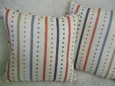 "OPERA STRIPE BY G P & J BAKER 1 PAIR OF 18"" CUSHION COVERS - DOUBLE SIDED"