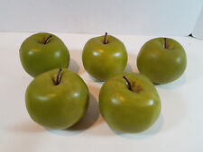 Faux Fake Fruit Green Apples Lot of 5 Home Decor Granny Smith