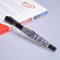 JINHAO Flying Dragon fountain pen NOBLEST BROWN Medium nib new free shipping