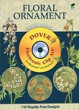 Plants & Flowers as Ornament CD-ROM and Book (Dover Electronic Clip Ar-ExLibrary
