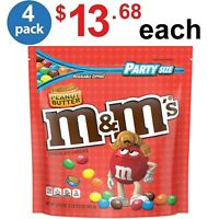 M and MS Peanut Butter Chocolate Candy Party Size - 34 Ounce Bag - (Pack of 4)
