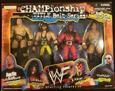 WWE Championship Title Belt Series Kane X-Pac Rock Steve Austin WWF Jakks BCA