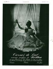Publicité ancienne parfum carnet de bal Revillon 1937 issue de magazine