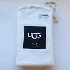 UGG Standard Pillow Case Pair Twilight Flannel White