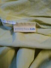 Pottery Barn Kids Cotton Light Green Fitted Crib Sheet