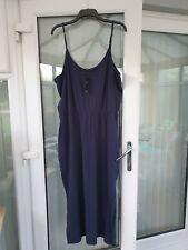 M&S WOMENS MAXI DRESS NAVY BLUE SIZE 22