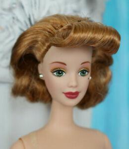 Nude TNT Barbie bob curl bangs red hair head beauty mark green eyes NEW for OOAK