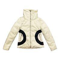 Moncler Padded Jacket   Vintage High End Designer Quilted Coat Off White VTG