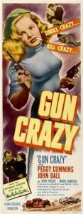 Gun Crazy Movie POSTER 14 x 36 Peggy Cummins, John Dall, Berry Kroeger, A