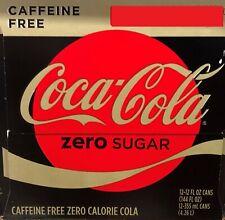 Coke Zero Sugar Caffeine Free Soda 12 pack Coca Cola