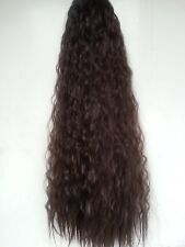 "Extra long 30""  thick wavy afro ponytail hair piece extension Black Blonde Brown"