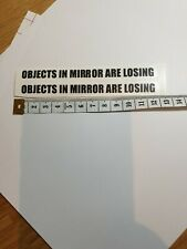 2 x OBJECTS IN MIRROR ARE LOSING Funny Novelty Car/Van Vinyl Decal Stickers