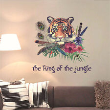 King of Jungle Tiger Room Home Decor Removable Wall Stickers Decals Decorations