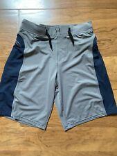 Mens Hylete Athletic Shorts Blue/Gray Size S-EUC Zipper Pockets