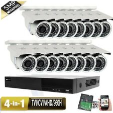 5MP 16CH All-in-1 DVR 5MP 4-in-1 AHD 960H IP66 Camera System 3TB 9-22mm Lens 09c