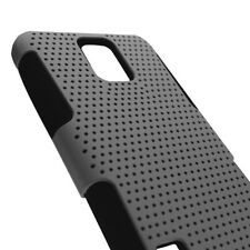 Gray Black Hybrid Case for Samsung Galaxy S5 Hard Mesh Soft Silicone Cover