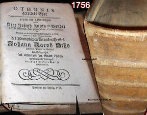 265 Jahre alter Druck -1756- Mächtiger Lederband FOLIO PRACHTBAND Einbände RAR