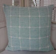 Hamptons Coastal Teal & White Linen Cushion Cover 45