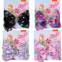 "5"" Cartoon JoJo Siwa Wee Unicorn Hair Bow With Alligator Clip Girls Kids Bowknot"