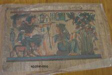 Egyptian Dark PAPYRUS -King Tut Hunting -Hieroglyphics -. 30cm  x 20cm   #219