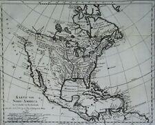 RARE!! North America, USA, Canada, Mexico… Bellin, 1743, Karte von Nord-America