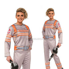 Ghostbusters-2 Adults Female Costume Jumpsuit & Proton Wand Halloween S: L 14-16