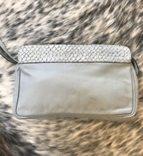 & Other Stories Grey Leather Clutch Bag