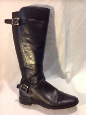 Office Girl Black Knee High Leather Boots Size 38