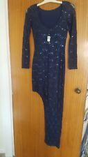 Womens River Island Navy Blue Dress Size 8 NWT