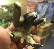Custom Made three toed sloth animal Resin Mini Figure Figurine Model
