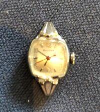Vintage 10ct White Gold Bulova Watch - RARE