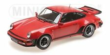 MINICHAMPS 1977 Porsche 911 Turbo Strawberry Red 1:12 Large Car*Brand New* Nice!