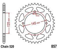 KR Kettenrad 40 Z Teilung 520 YAMAHA XT 600 E / H / K / Z  84-03  Rear sprocket