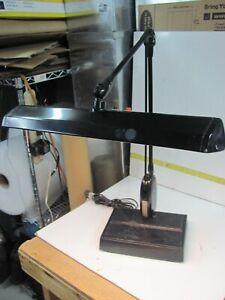 Vintage Adjustable Desktop Light - Heavy Black Articulating - Great Office Lamp