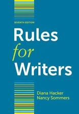 Rules for Writers: Rules for Writers by Diana Hacker and Nancy Sommers (2011,...